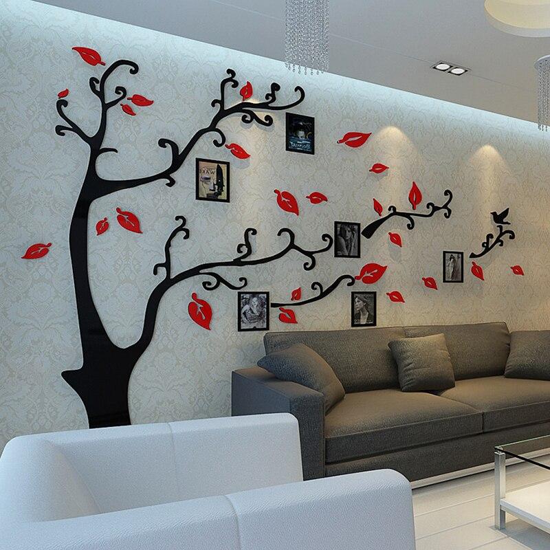 12 piezas pared marco de fotos estilo árbol de familia pegatinas de ...