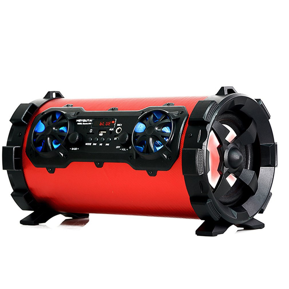 Wireless Bluetooth Speaker Portable Outdoor Multi-Function Car Subwoofer Speaker Column Box Loudspeaker