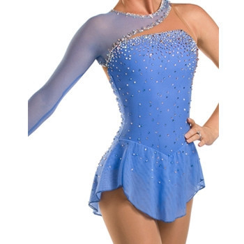 blue figure skating dresses for women competition skating dress custom ice figure skating clothing high elasticity free shipping