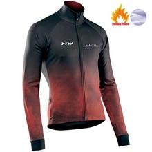 Maillot de cyclisme thermique en molleton pour lhiver, NW, 2020, vêtements de montagne, Northwave