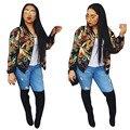 Mujeres chaqueta de bombardero 2016 Atractivo dashiki ropa de mujer Impreso sexy femme jacket cazadora chaquetas de otoño de las mujeres