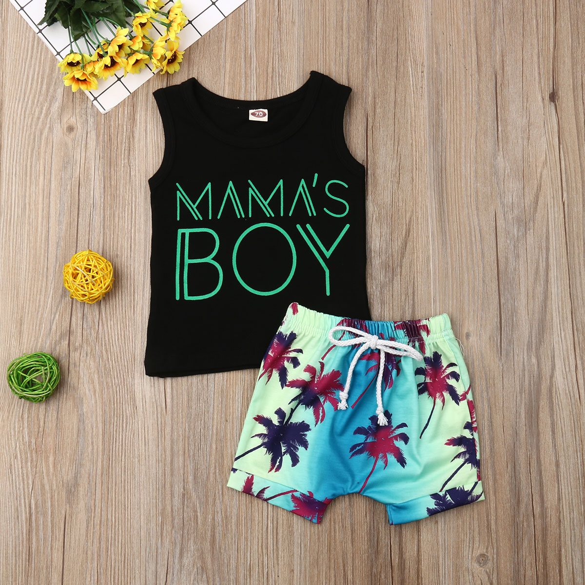 Pudcoco Summer Newborn Baby Boy Clothes Sleeveless Cotton Tops Vest Summer Beach Short Pants 2Pcs Outfits Casual Clothes Set