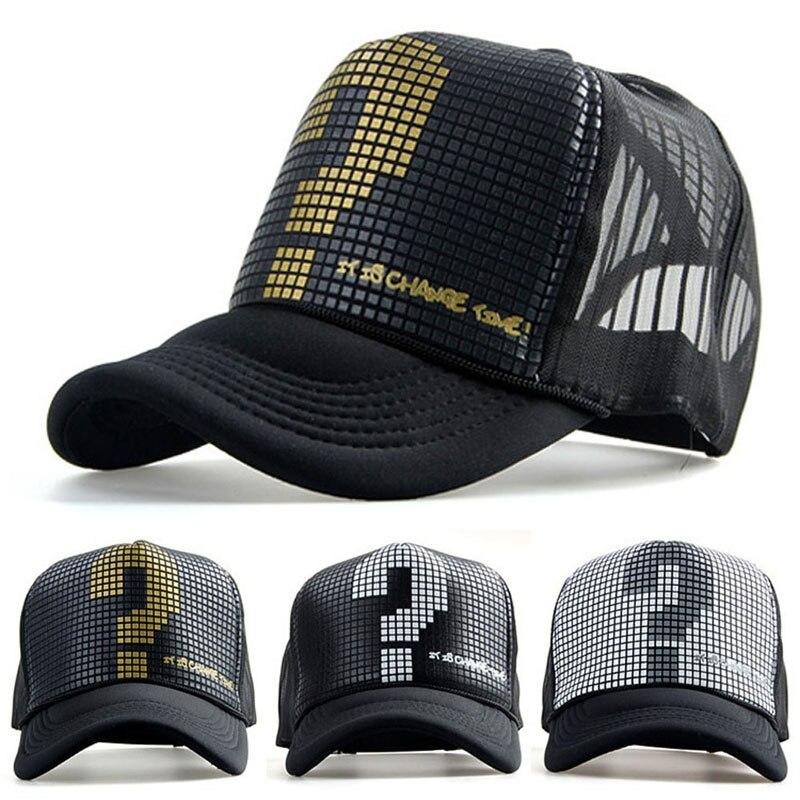 New Men Women Mesh Hat Sports Trucker Visor Adjustable Snapback   Baseball     Cap