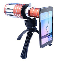 Orsda High End 50X 80X Telephoto Zoom Lens Telescope Mobile Phone Camera Lenses with Tripod for Smartphone Camping Hiking