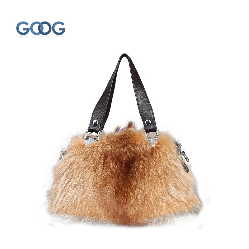 New fur women's fur bag fox fur autumn and winter bag Korean version of women's shoulder bag fashion leather handbags 2017 winter new clothes to overcome the coat of women in the long reed rabbit hair fur fur coat fox raccoon fur collar