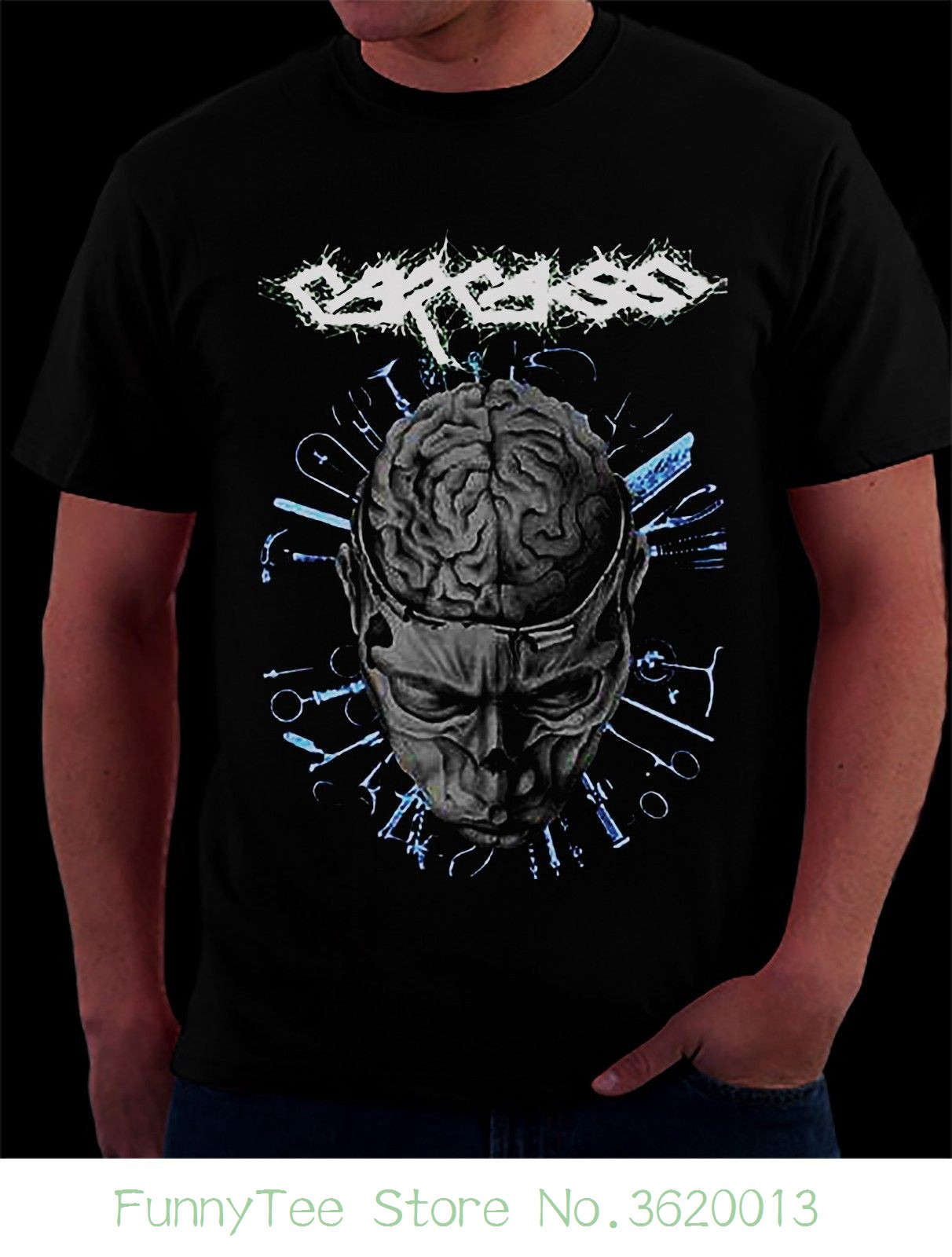 T-shirts Carcass Logo Grey T-shirt