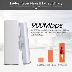 Image 2 - COMFAST 5KM 900Mbps 5.8Ghz 옥외 무선 교량 WIFI CPE 접근 지점 12dBi wi fi 안테나 Nanostation wifi 반복기 CF E313AC