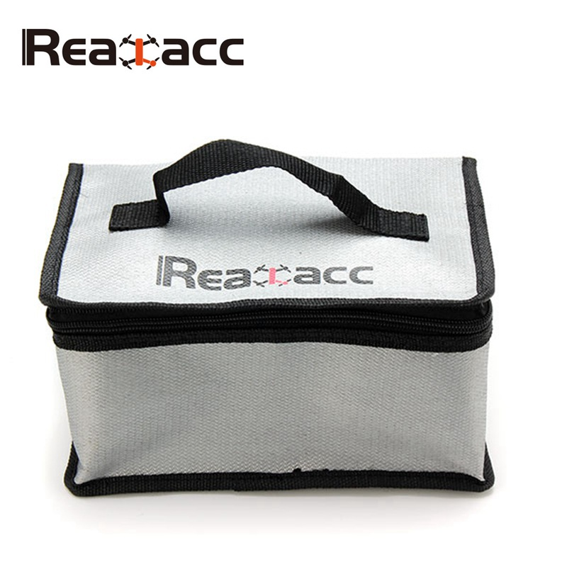 Realacc Fireproof LiPo Battery Safety Carrying Case Bag Box Hnadbag Safe Guard Realacc Fire Retardant 220x155x115mm With Handle free shipping 2017new arrival fireproof rc liposafety bagguard realacc fire retardant battery bag 215 150 110mm with handle