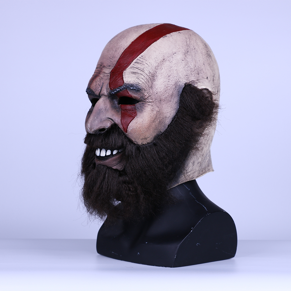 2018 Game God of War Kratos Leviathan Mask Cosplay Kratos Weapon Helmet Halloween Props (4)