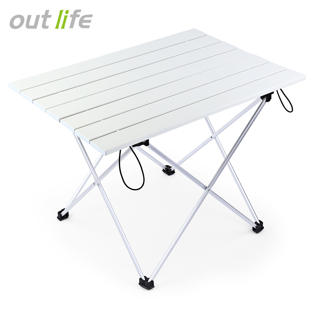 Outlife Portable Outdoor BBQ Camping Picnic Aluminum Alloy Folding Table Portable Lightweight Anti-Skid Mini Rectangle Table GGOutlife Portable Outdoor BBQ Camping Picnic Aluminum Alloy Folding Table Portable Lightweight Anti-Skid Mini Rectangle Table GG