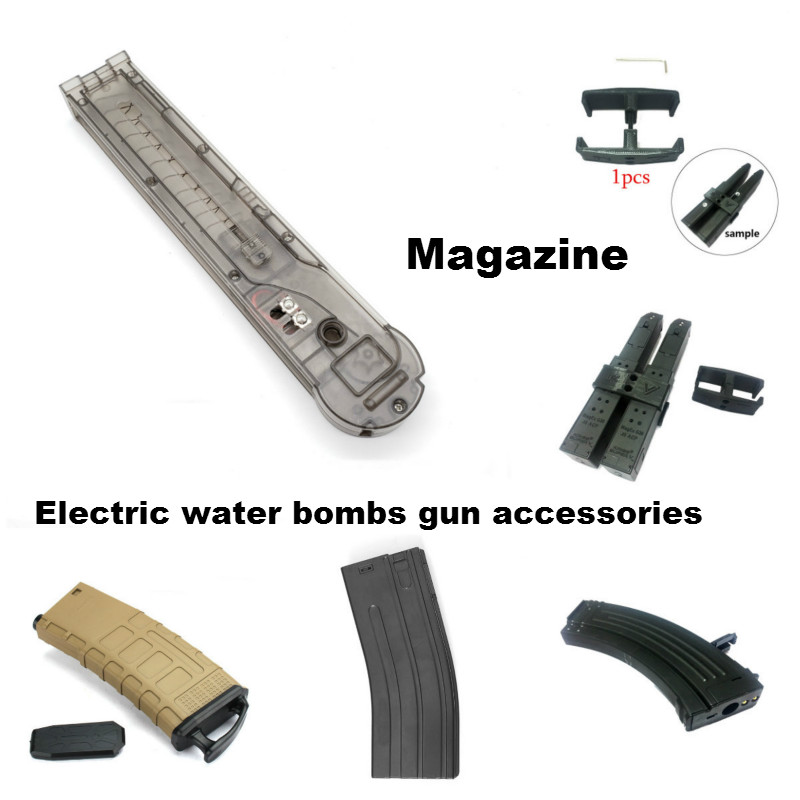 Outdoor CS Sport Cartridge Clip Electric Water Bombs Gun Mechanical Magazine Blaster Children's Gel Ball Gun Toy Accessories
