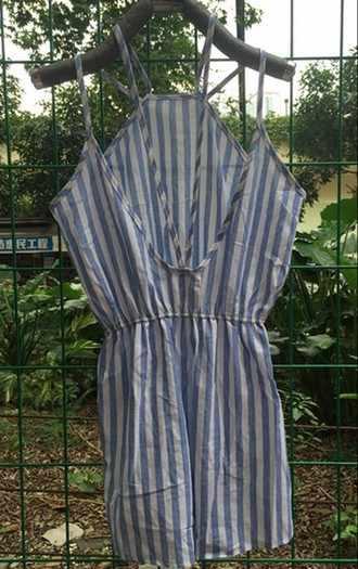 Комбинезоны летние новые синие полосатые комбинезоны сексуальные шорты с лямкой на шее юбка женские комбинезоны одежда Vestidos LBD1067
