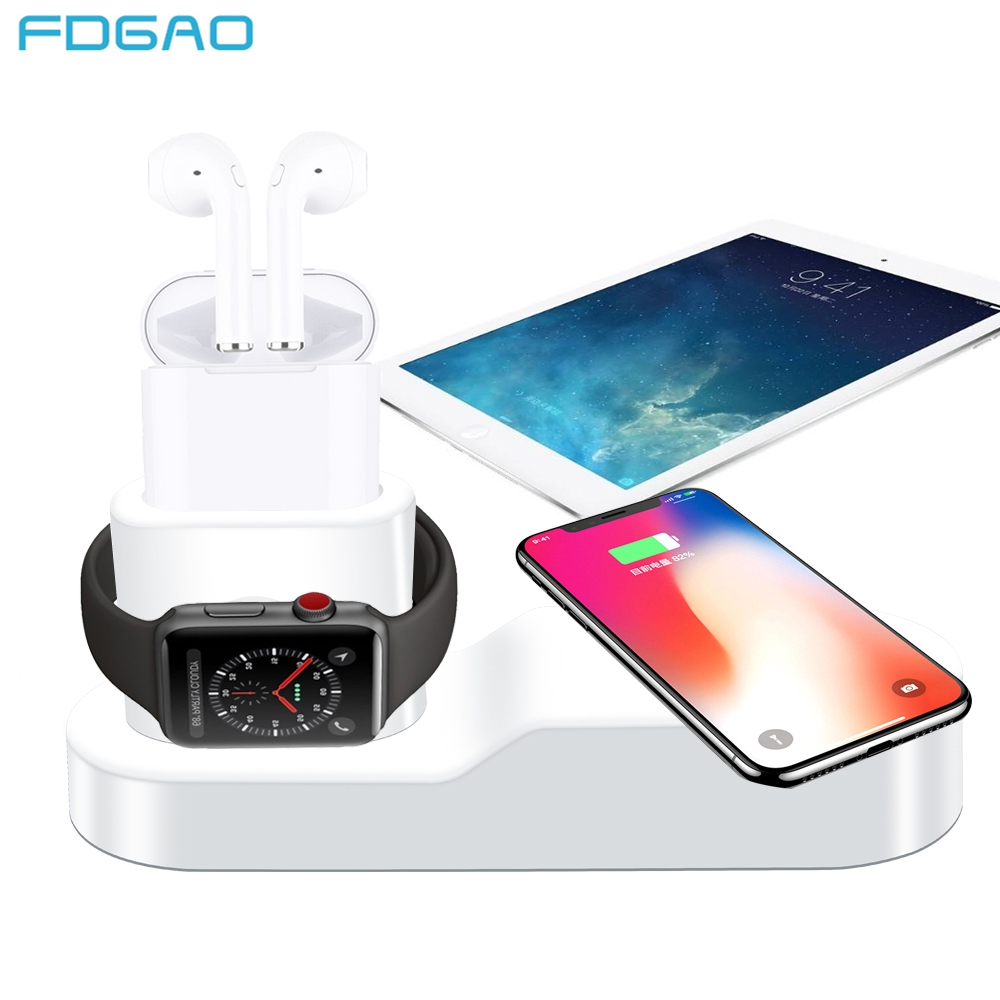 FDGAO 4 in 1 Wireless Charger For iPhone 8 X XR XS Max