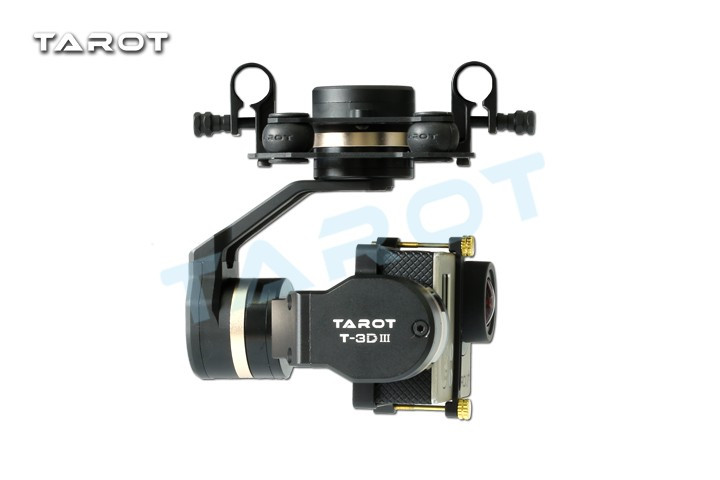 Tarot TL3T01 mise à jour de T4-3D 3D métal 3 axes sans balais cardan pour GOPRO 4 3 + pour Gopro3 FPV photographie F17391 - 3