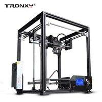 Новинка 2017 upgarded алюминиевый куб 3D принтеры Наборы Tronxy X5 металлический экструзии высокой точности 12864 P ЖК дисплей большой размер печати
