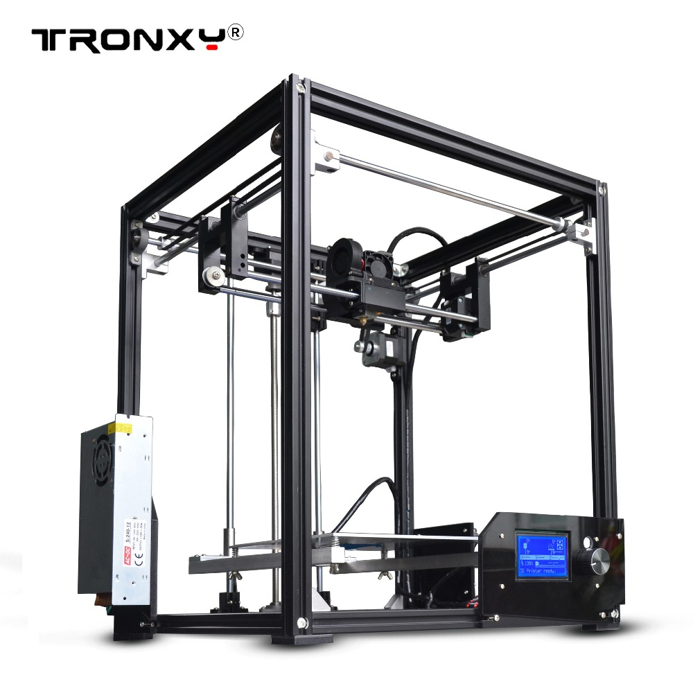 2017 new upgarded Aluminium cube 3D Printer Kits Tronxy X5 Full Metal Extrusion high precision 12864P