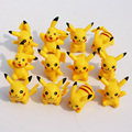 2016 New Arrival 12pcs/lot PVC Pokeball Pikachu Action Figure Toy Collector's Edition Model Kids Birthday Gifts