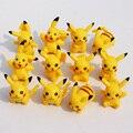 2016 Nueva Llegada 12 unids/lote PVC Pokeball Pikachu Figura de Acción de Juguete Edición coleccionista Modelo Niños Regalos de Cumpleaños