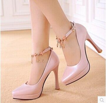09da325f3d Novas de metal stiletto sapatos solteiros apontou sapatos Asakuchi clube  passarela de salto alto sexy sapatos de casamento sapatos de trabalho  funcionam em ...