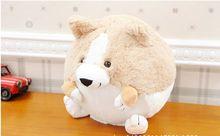 small cute plush fat corgi dog toy lovely round cartton corgi dog doll gift about 20cm