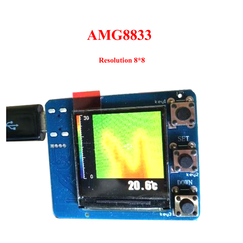 Image 3 - AMG8833 IR 8x8 Resolution Infrared Thermal Imager Array Temperature Sensor Module Development-in Replacement Parts & Accessories from Consumer Electronics