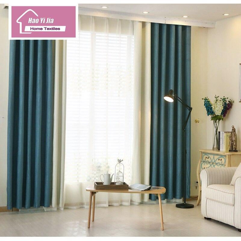 US $30.94 20% OFF|2016 die Neueste Version Zwei Farben Zusammen Vorhang  Tuch Gewebt Leinen Schlafzimmer Wohnzimmer Fenster-in Vorhänge aus Heim und  ...
