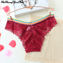 5d41e30f81 Sexy Underwear Female Lace Breathable Panties Ultra-thin Transparent  Temptation Briefs Girl Japanese Bikinis Intimates