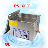 15L Ultrasonic Cleaner for motherboard/circuit board/electronic parts/PBC plate ultrasonic cleaning machine 1PC PS 60T