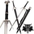 Nueva sword acero inoxidable para video juego el witcher3 medieval: réplica de caza salvaje hoja de geralt de rivia