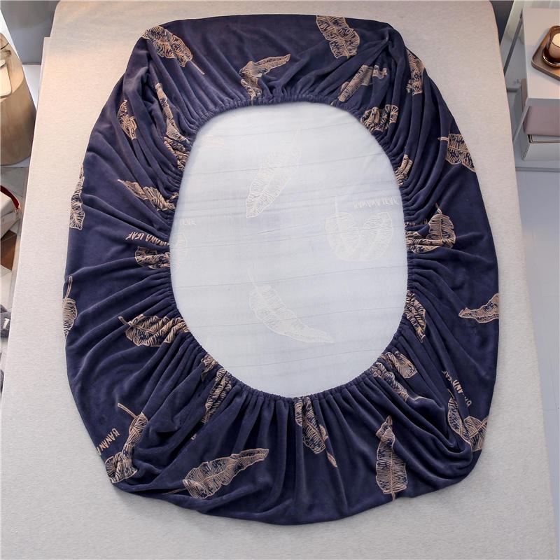 Offre spéciale 100% Polyester hiver drap de lit avec bande élastique matelas protecteur impression drap housse matelas couverture draps