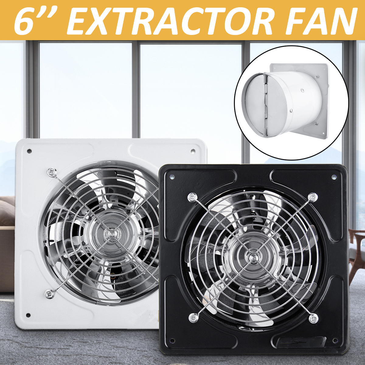 6 Inch Exhaust Fan 220V Ceiling Window Fan Waterproof ...