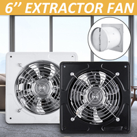 6 Inch Exhaust Fan 220V Ceiling Window Fan Waterproof Extractor Exhaust Ventilation Pipe Fan Bathroom Kitchen Air Cleaner Fan