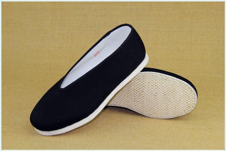 LMMZ Scarpe di Arti Marziali Tai-Chi Scarpe Kung-Fu Formatori Unisex Antiscivolo Traspirante Fitness Outdoor Sports,Nero,35