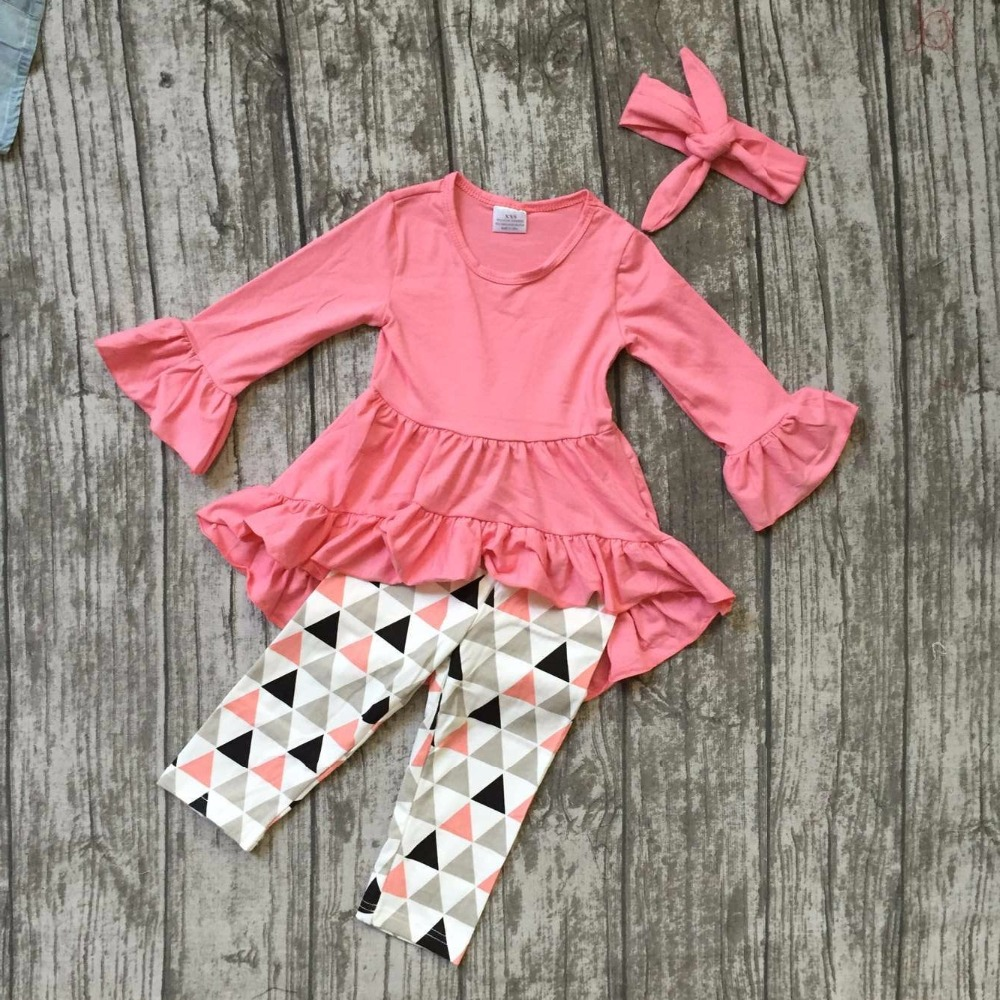 baby girls fall clothing gilrs triangle outfits children boutique clothes children ruffle outfis with matching headband kids clothes girls boutique clothing girls back to school outfits girls summer outfits with matching headband