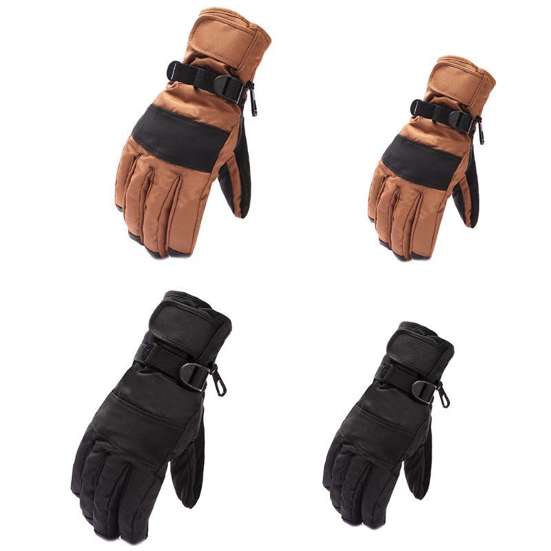 1 Paar Frauen Männer Wasserdichte Anti Slip Warme Handschuhe Einstellbare Handgelenk Strap Winter Camping Wandern Skifahren Outdoor Sport Zubehör