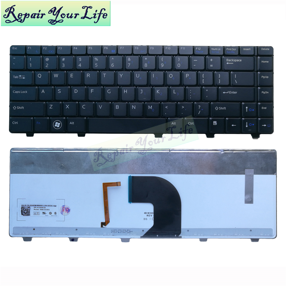 laptop keyboard For <font><b>Dell</b></font> Vostro 3300 3400 <font><b>3500</b></font> V3300 0MFJ6 NSK-DJ301 US keyboard with backlit original new image