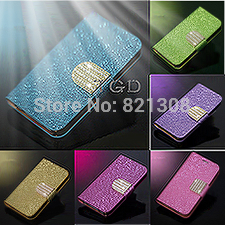 <font><b>Top</b></font> Quality Bling Shiny Leather Case Deluxe Stand Design Flip Wallet Card Cover For LG P940