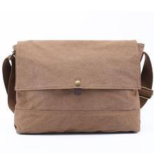 2016 canvas shoulder bag Men Crossbody Bag Large Casual Crazy horse leather Messenger Bags