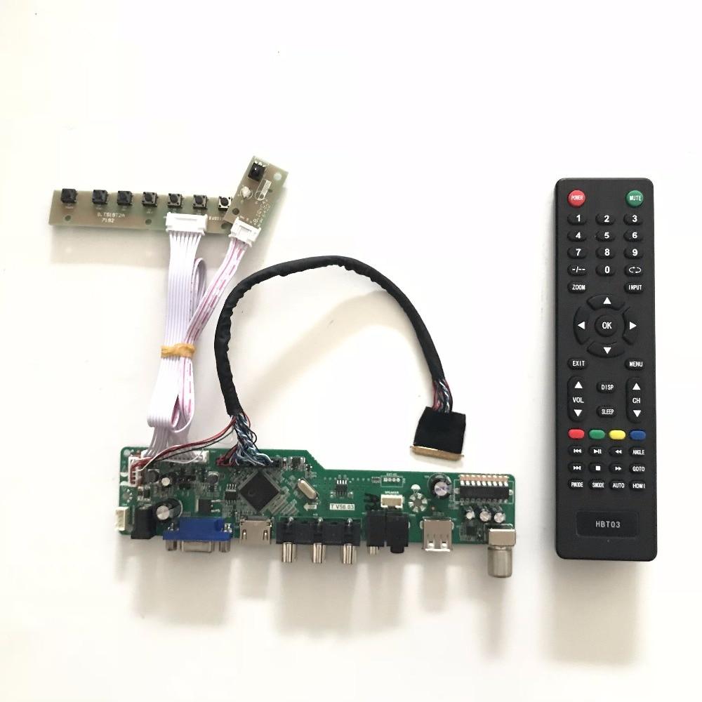 T.V56.03 VGA HDMI AV Audio USB TV LED LCD Controller Board Kit for 17.3 inch N173HGE-L21 LED Panel 1920x1080 N173HGE L21 775mm led backlight lamps kit w optical lens fliter for 39 40 tv monitor panel 12pcs led strips driver board