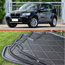 For BMW X3 F25 2011-2016 Rubber Foam Trunk Tray Liner Cargo Mat Floor Protector
