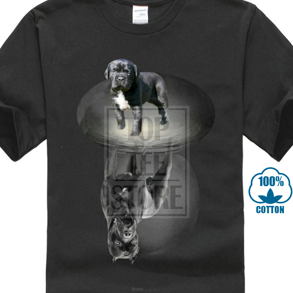 Cotton Cool Design 3D Tee   Shirts   Stylish Men'S Fashion Short O Neck Cane Corso   T     Shirts