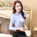 2015 New women's long-sleeve blouse autumn slim ol elegant work wear female Formal office shirt plus size fashion tops clothes