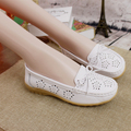 Summer Hollow out  women Genuine Leather   Moccasins Women's Soft Leisure Flats Female Driving Shoes  Loafers size 35-40