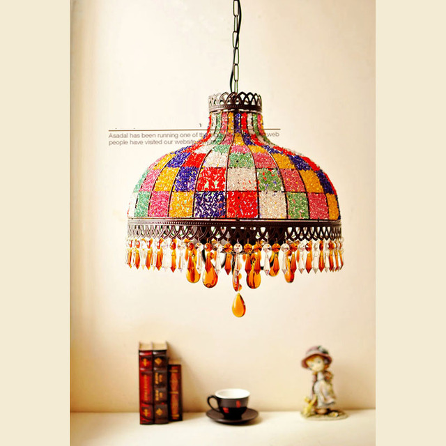 Mediterrane Hanglampen Bohemian Suspension Lamp Inbegrepen E27 Lampen  Plafond Drop Licht Woon Verlichting Free Verzending