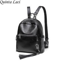 Quinta laci Новинка 2017 года модные женские туфли рюкзак в Корейском стиле из искусственной кожи с кисточками личности все матч прилив досуг Voyage Sacs