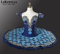 Clasical Pancake Tutu Doll Costume Dress Royal Blue YAGP Professional Ballet Nutcracker Competiton Tutu WomenBT9081