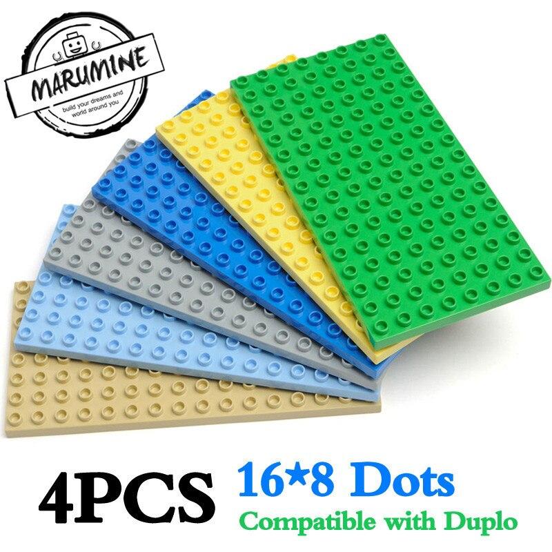 2 x Genuine Lego 92438 Dark Green Baseplate Base Plate 8 x 16 Base Board.