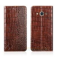 Crocodile Grain Genuine Leather Case For Samsung Galaxy J2 Prime SM G532F DS G532F G532 Phone