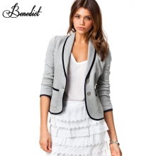 Benedict Women Short Coat Jackets Office Ladies Blazer Big Size New Fashion Spring Fall Coats Women's Turn Down Collar S-6XL