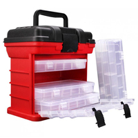 Portable Carp 4 Layer Fishing Tackle Boxes 26x15x25cm For Fishing Reel Line Lure Tool Storage Box Fishing Accessories